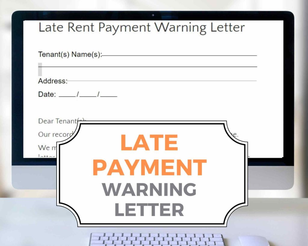 Late Rent Payment Warning Letter