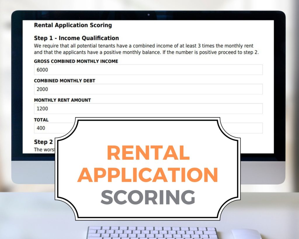 Rental Application Scoring System