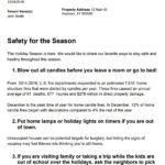 Safety First Letter