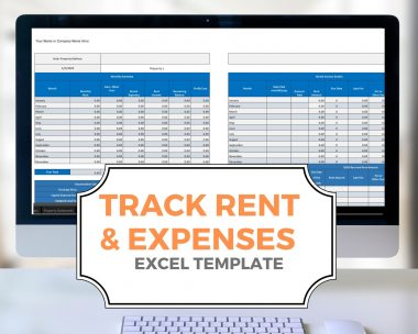 Landlord Rent and Expense Spreadsheet Templates